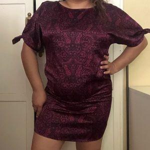 Purple/Violet pattern dress
